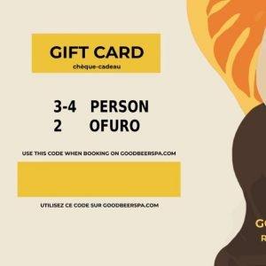 Gift card 3-4 dans 2